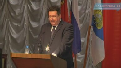 Выступление главы Ивантеевки Гриднева