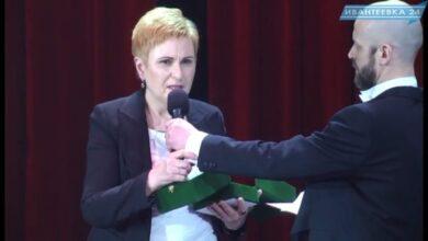 Ветеринар Дина Шарипова с наградой