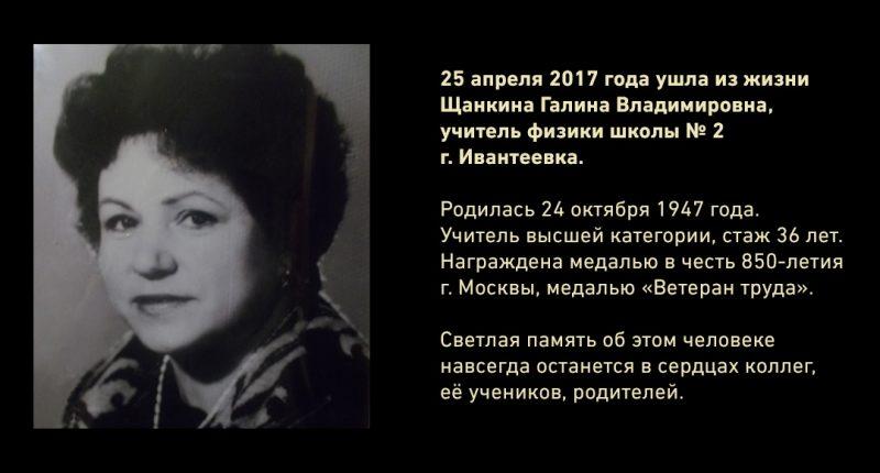 Щанкина Галина Владимировна