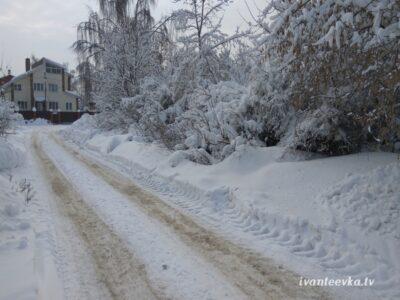 Улицы Ивантеевки после уборки снега 02