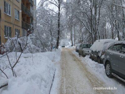 Улицы Ивантеевки после уборки снега 13