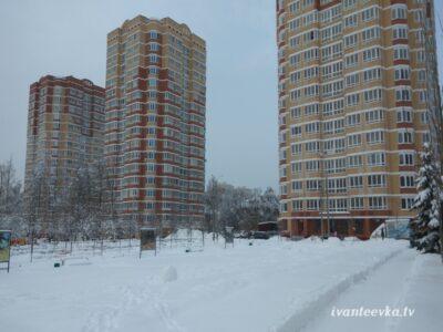 Улицы Ивантеевки после уборки снега 24