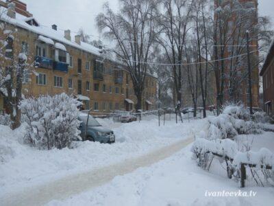Улицы Ивантеевки после уборки снега 30