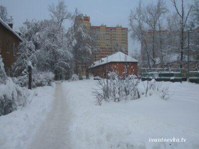 Улицы Ивантеевки после уборки снега 31