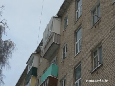 Улицы Ивантеевки после уборки снега 32