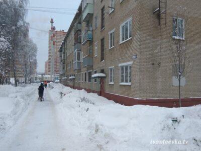 Улицы Ивантеевки после уборки снега 34