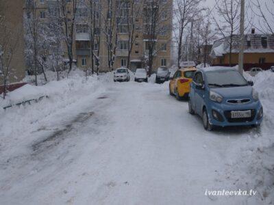 Улицы Ивантеевки после уборки снега 35