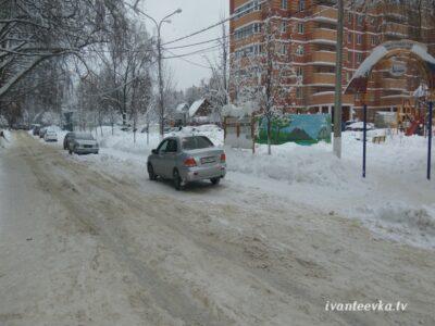 Улицы Ивантеевки после уборки снега 36