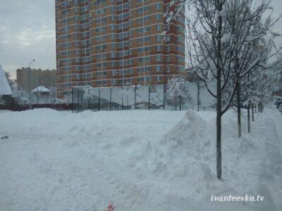 Улицы Ивантеевки после уборки снега 41
