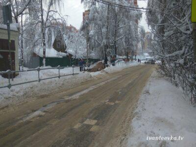 Улицы Ивантеевки после уборки снега 42