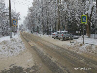 Улицы Ивантеевки после уборки снега 44