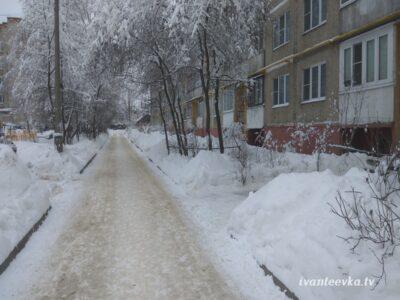 Улицы Ивантеевки после уборки снега 45