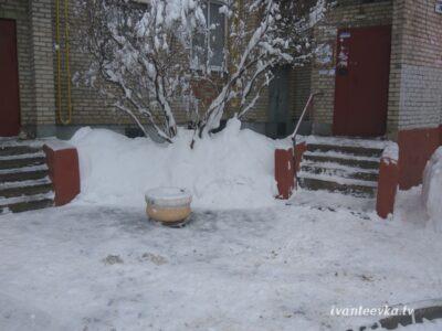 Улицы Ивантеевки после уборки снега 47
