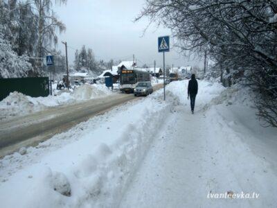 Улицы Ивантеевки после уборки снега 50