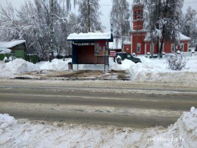 Улицы Ивантеевки после уборки снега 51