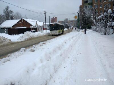 Улицы Ивантеевки после уборки снега 52