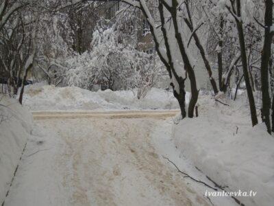Улицы Ивантеевки после уборки снега 54