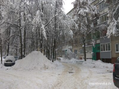 Улицы Ивантеевки после уборки снега 57
