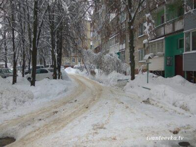 Улицы Ивантеевки после уборки снега 58