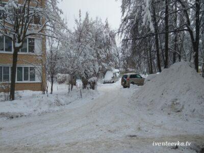 Улицы Ивантеевки после уборки снега 59