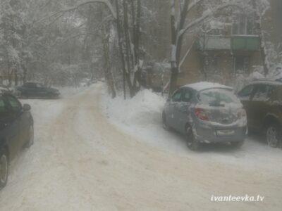 Улицы Ивантеевки после уборки снега 60