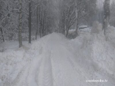 Улицы Ивантеевки после уборки снега 61