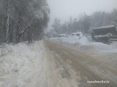 Улицы Ивантеевки после уборки снега 62