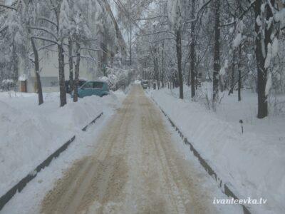 Улицы Ивантеевки после уборки снега 64