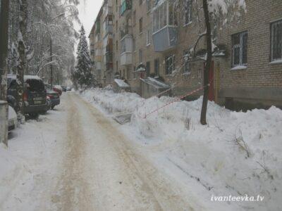 Улицы Ивантеевки после уборки снега 65