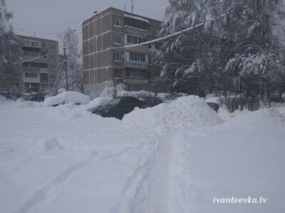 Улицы Ивантеевки после уборки снега 66