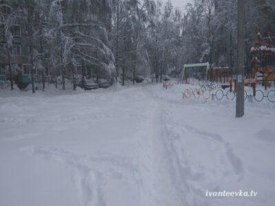 Улицы Ивантеевки после уборки снега 67