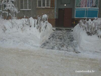 Улицы Ивантеевки после уборки снега 68