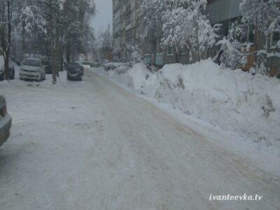 Улицы Ивантеевки после уборки снега 69