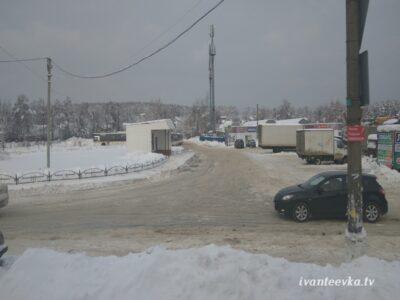Улицы Ивантеевки после уборки снега 71