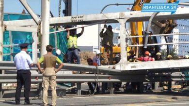 Photo of Подробности после падения моста на Ярославке из-за грузовика