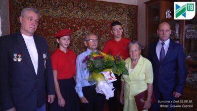 Photo of Поздравление ветерана Николая Абросимова по случаю 75-летия Курской битвы