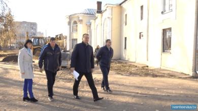 Photo of Сергей Керселян проверил ход реконструкции сквера за КДЦ «Первомайский»