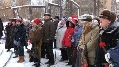 митинг у меморирала зима