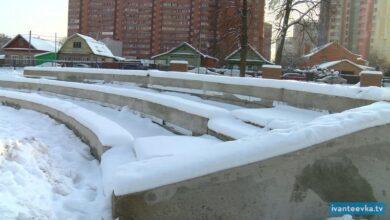 Photo of Контроль реконструкции сквера за КДЦ. Качество, спрятанное снегом