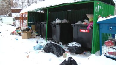 уборка мусора снегопад