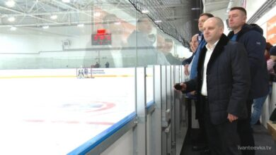 Photo of Глава Ивантеевки на матче юных хоккеистов