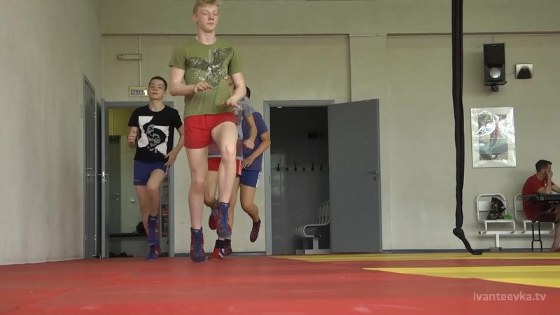 На тренировке ивантеевских самбистов