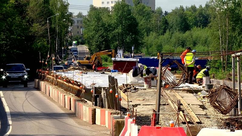 ремонт моста Студенческий проезд