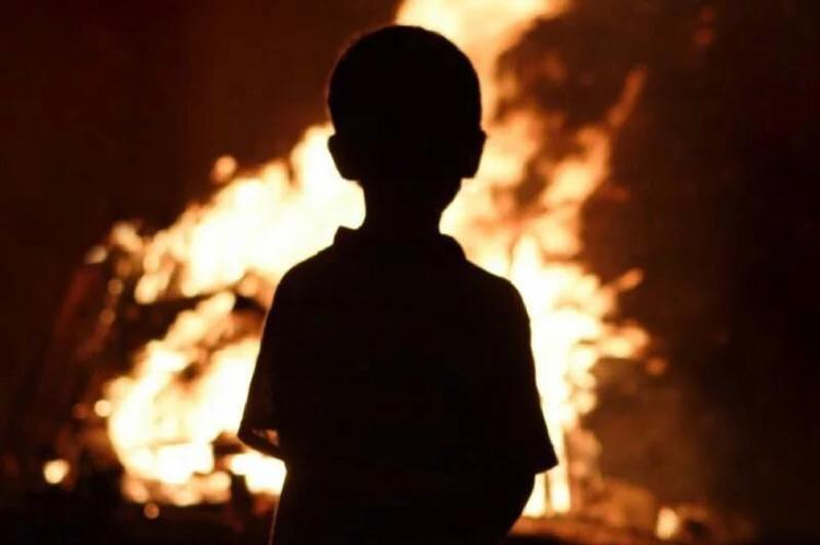 Пожар ребенок