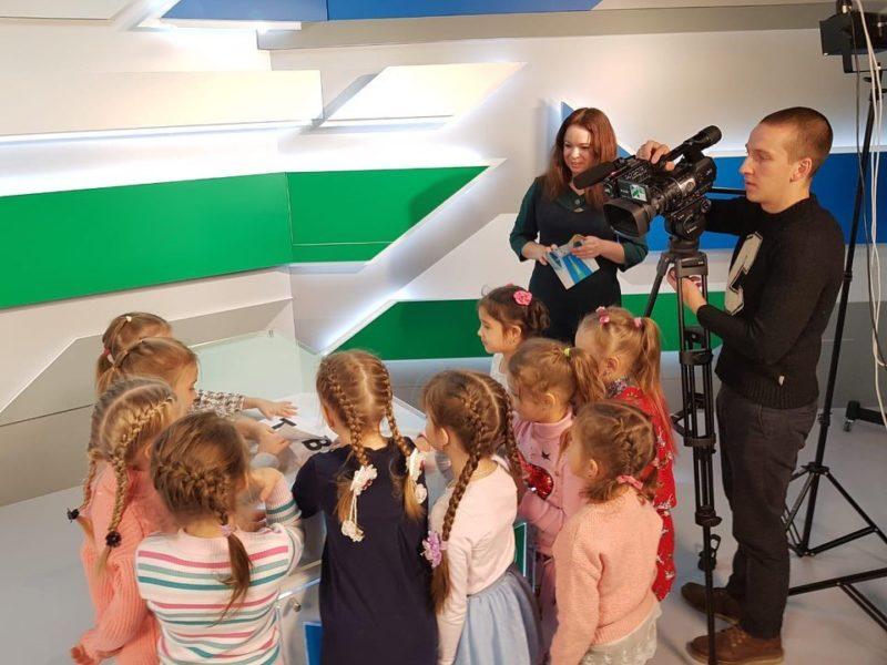 Дети из 18 детсада побывали в студи ИТВ