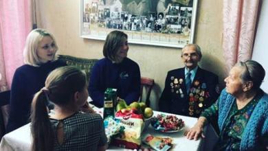 Photo of Ребята из КМЦ побывали в гостях у ветерана ВОВ