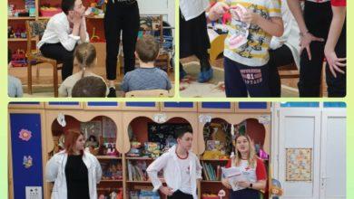 Photo of Учащиеся школы №4 провели игровое занятие для воспитанников детского сада №18 по теме «Гигиена полости рта»