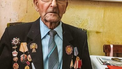 Photo of Молодогвардейцы посетили ветерана ВОВ Абросимова Николая Романовича