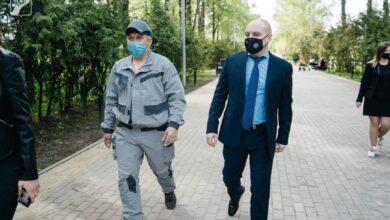 Photo of Глава Ивантеевки Максим Красноцветов проверил ход благоустройства центрального городского парка.