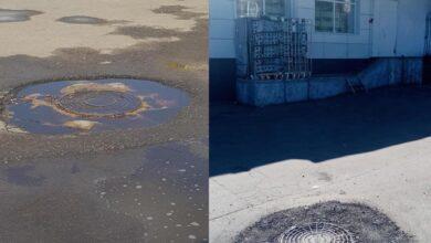 Photo of Выполнен ремонт канализационного колодца по адресу: ул. Победы д. 15 А